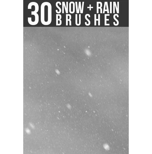 Snow Rain Brushes