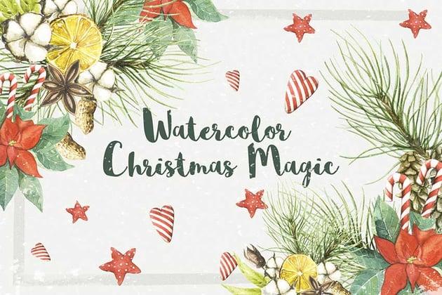 Watercolor Christmas Magic