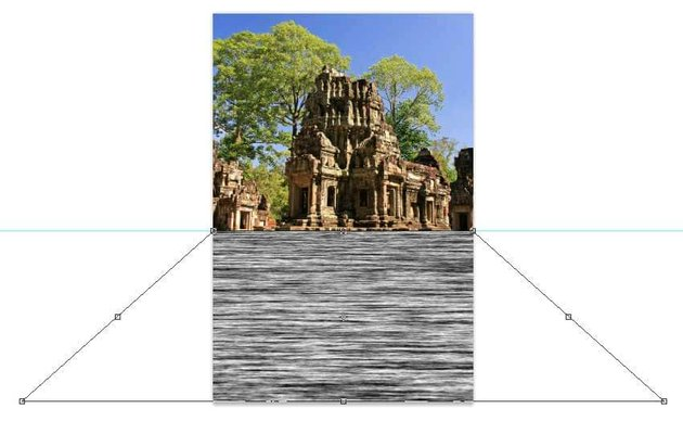 Use the Perspective Transform on the fibers layer