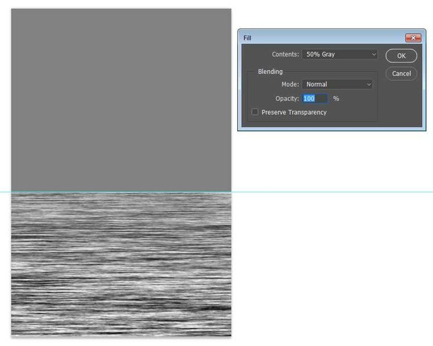 Fill the layer with midtone gray