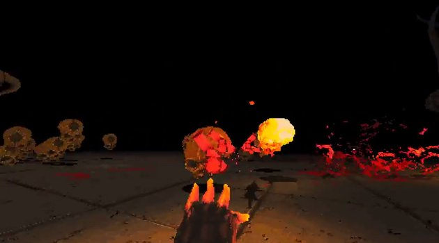 Gameplay from Devil Daggers