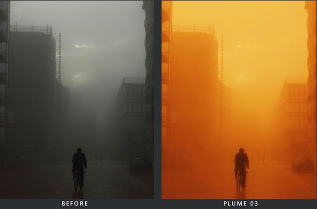 LUT before and after preview