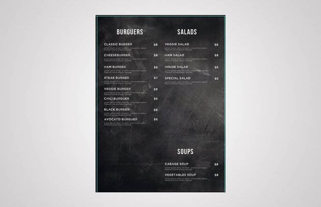add text elements to salads and soups
