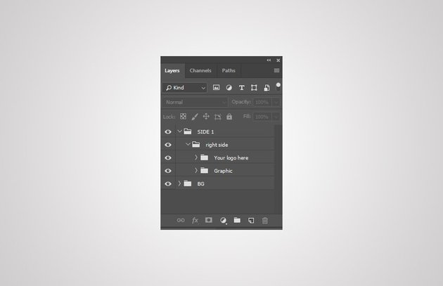 create new group layers right side