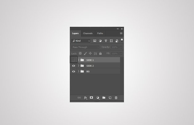 use eye icon to hide layer group