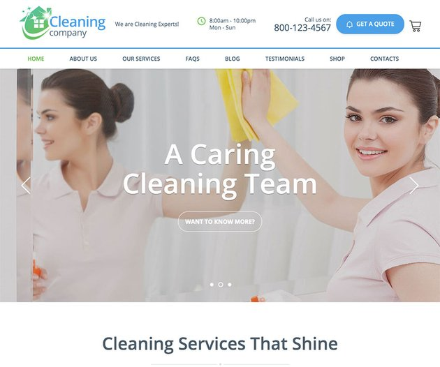Cleaning Services WordPress Theme  RTL
