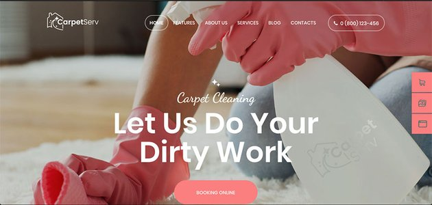 CarpetServ  Cleaning Company Housekeeping  Janitorial Services WordPress Theme