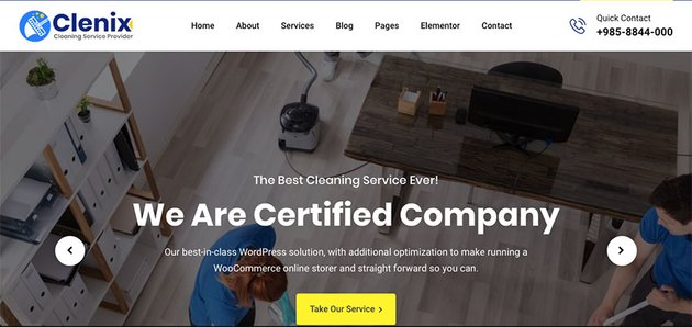 Clenix - Cleaning Services WordPress Theme Download