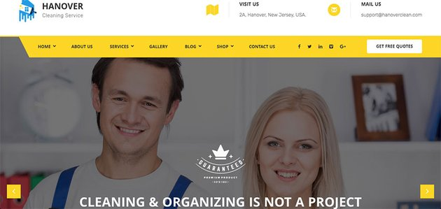 Hanover  Cleaning Website Theme