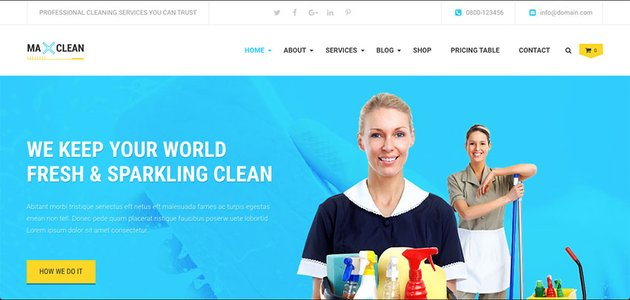 Max Cleaners  Movers - Cleaning Business Company WordPress Theme