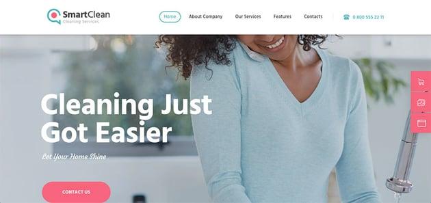 SmartClean Laundry Service WordPress Theme