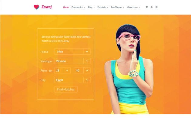 Zawaj - Dating PSD Template