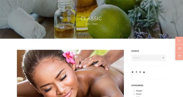 Jacqueline  Spa  Massage Salon Beauty WordPress Theme