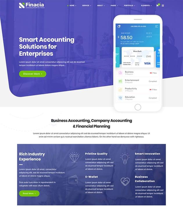 Financia - Finance  Business WordPress Theme