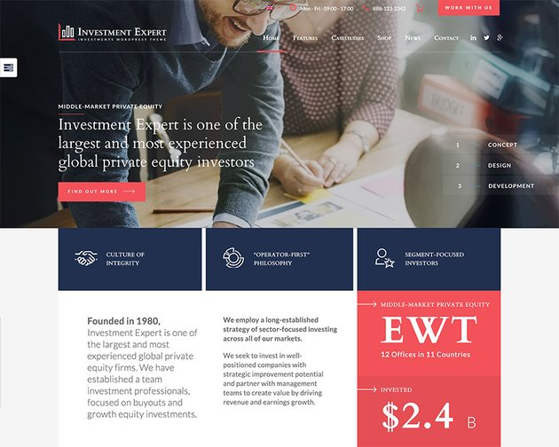 Investment Expert - Business Theme for Agencies in Financial Consultancy RTL