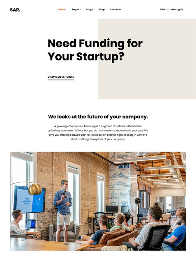 Sarmaya - Finance Consultancy WordPress