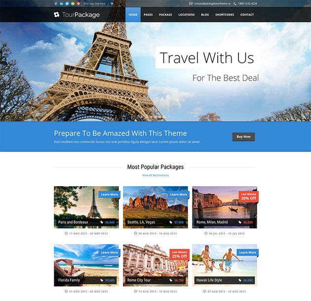 Tour Package - Wordpress TravelTour Theme