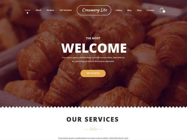 Creamery Lite free WordPress theme