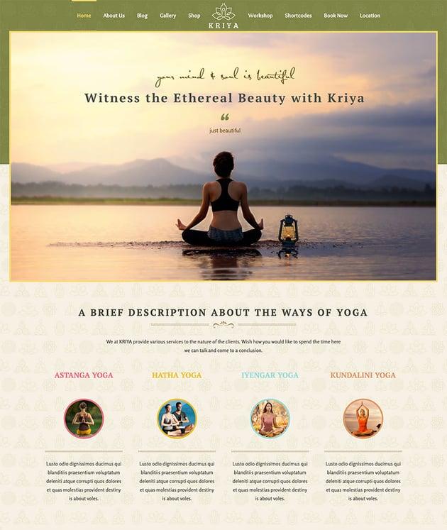 Kriya Yoga - Health Meditation and Yoga WordPress Theme