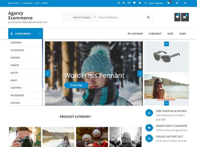 Agency Ecommerce Free WordPress Theme