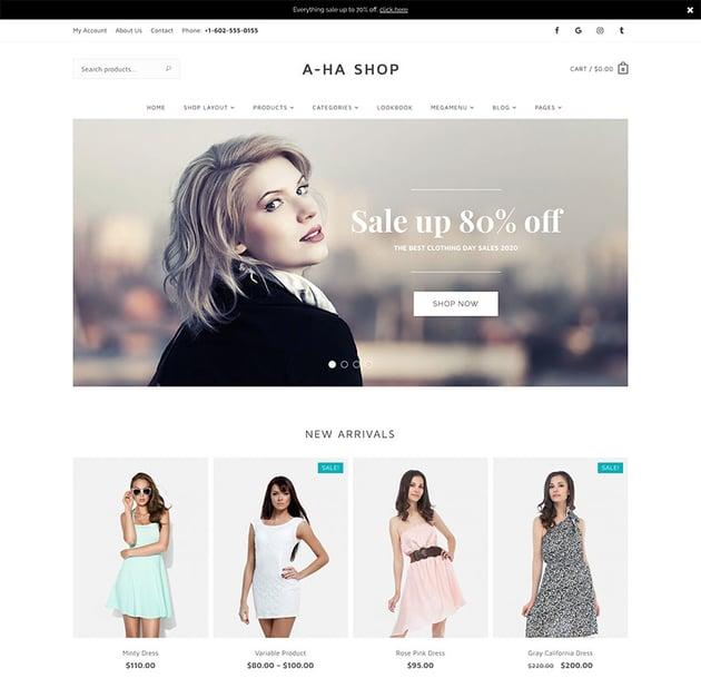 AhaShop - Fashion Online Store WordPress Theme