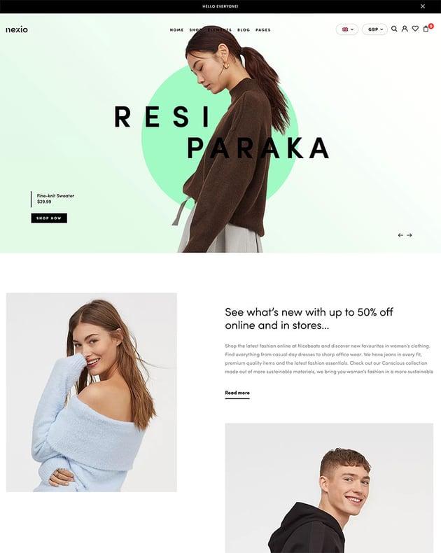 Nexio - Fashion WooCommerce Theme  RTL