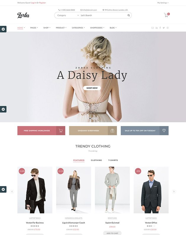 ZORKA  Wonderful Fashion WooCommerce Theme