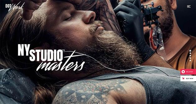 Dotwork - Tattoo Studio and Piercing Shop Theme