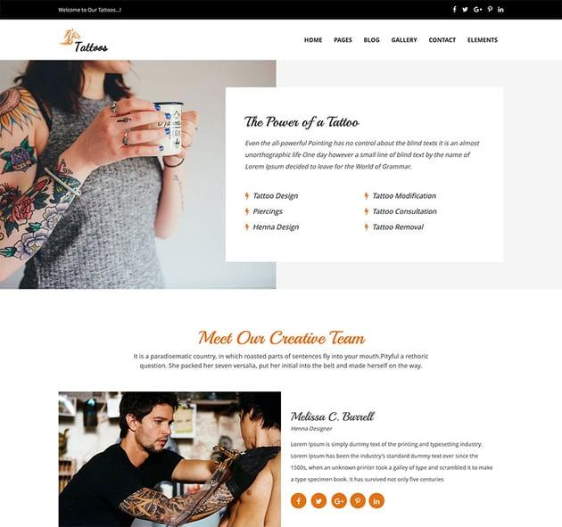 Tattoos - WordPress Theme