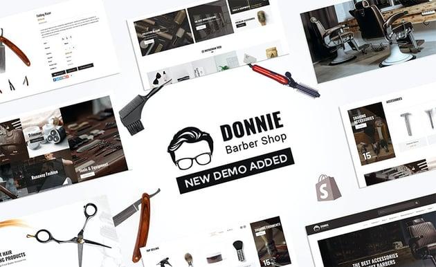 Donnie  Salon Barber Shop Shopify Theme