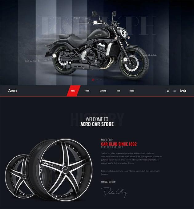 Aero - Auto Parts car Accessories Shopify Theme