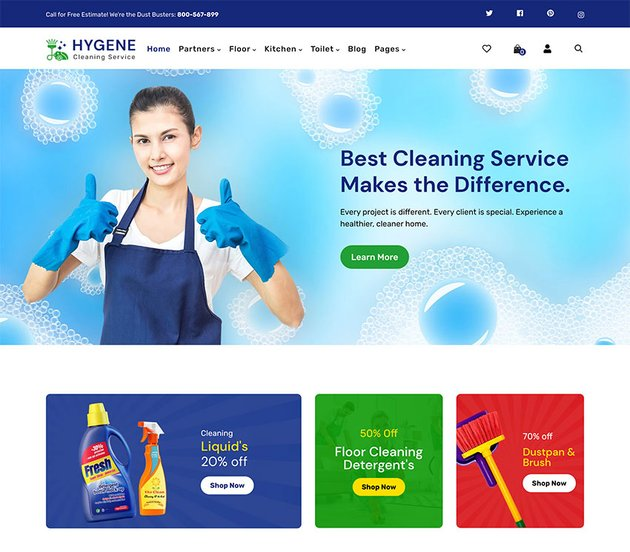 Hygene - Cleaning Products Shopify Theme