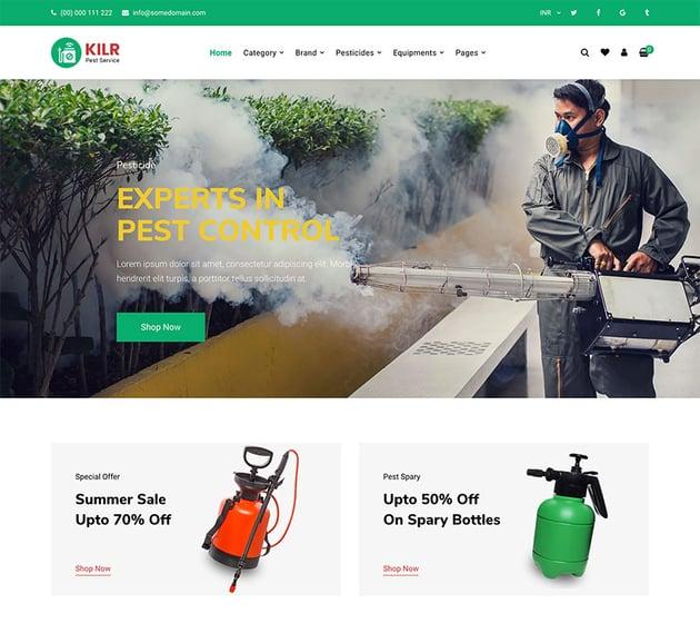 Kilr - Pest Control Shopify Theme