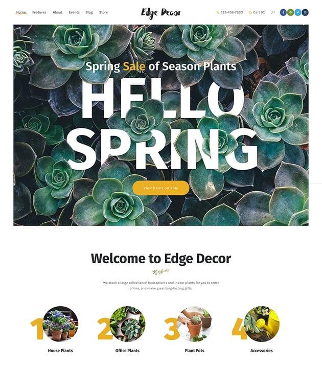 Edge Decor  A Modern Gardening  Landscaping WordPress Theme