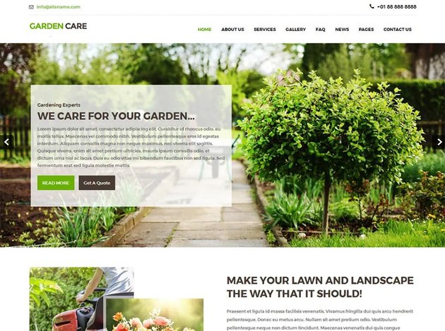 Greenhouse Free WordPress Theme
