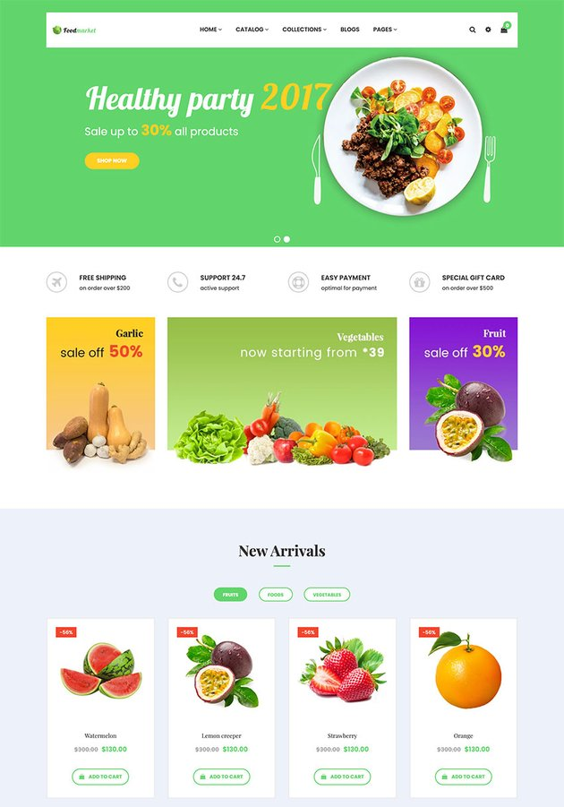 Foodmarket - Responsive Shopify Theme
