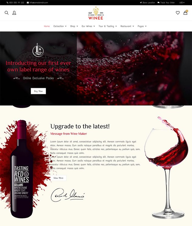 Winee - Wine Shop Winery Farm Shopify Theme