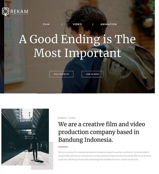 Rekam   A Modern Videographer WordPress Theme