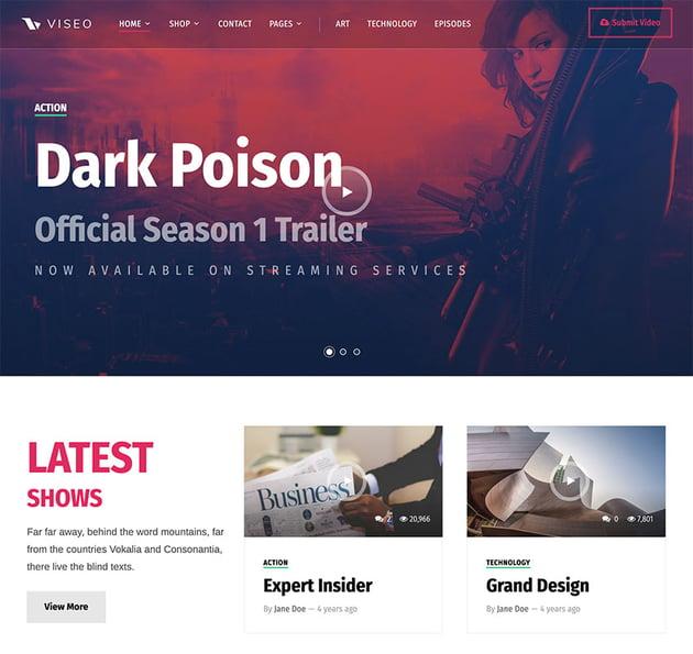 Viseo - News, Video & Podcast Theme