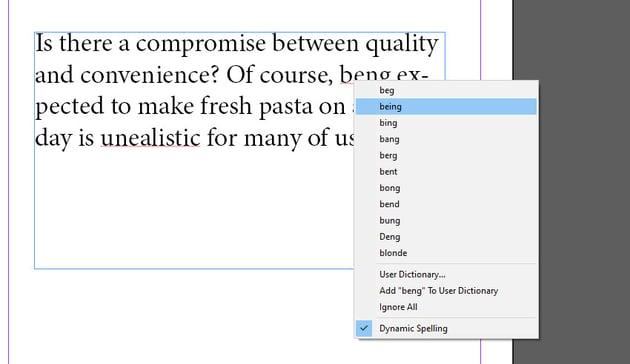 Dynamic Spelling Right Click Menu