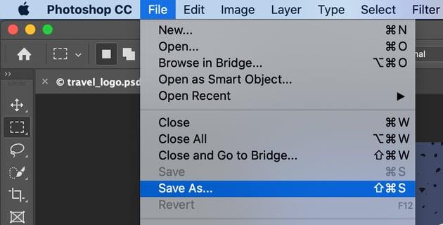 Select Save As