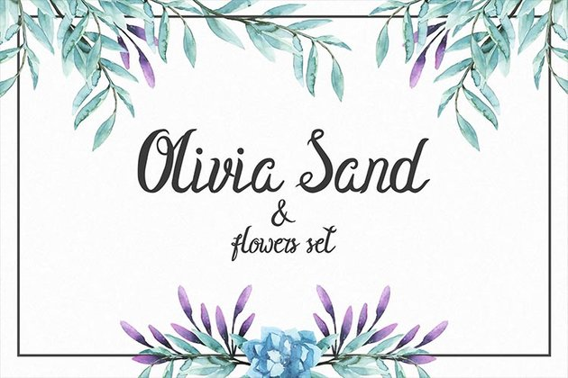 Olivia Sand Font for iPhone and iPad
