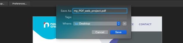 Affinity Publisher PDF Web Export