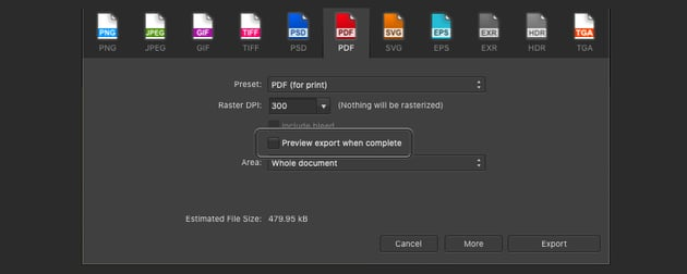 Affinity Publisher Edit PDF Preview Print