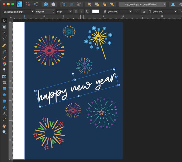 Affinity Designer Template Greeting Card Rotate Text