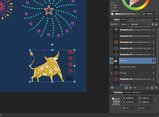 Affinity Designer Template Greeting Card Layer Effect