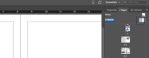 Select Master Page for InDesign