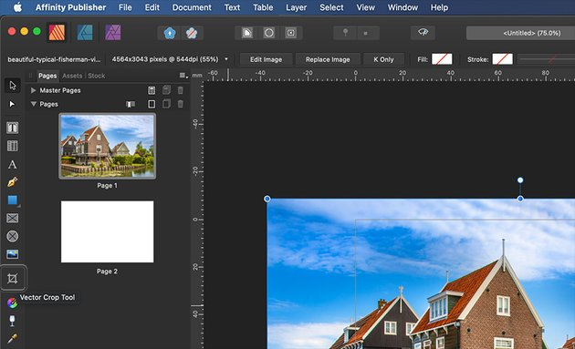 Affinity Publisher Real Estate Postcard Vector Crop Tool