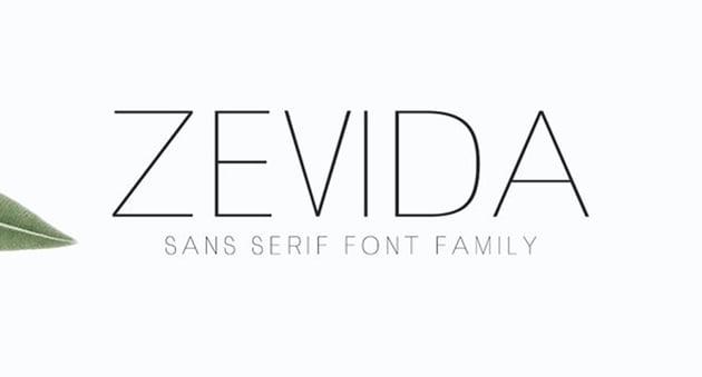 Zevida 4 Sans Serif Font Family