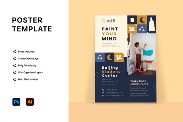 Envato Elements Bauhaus Poster Template